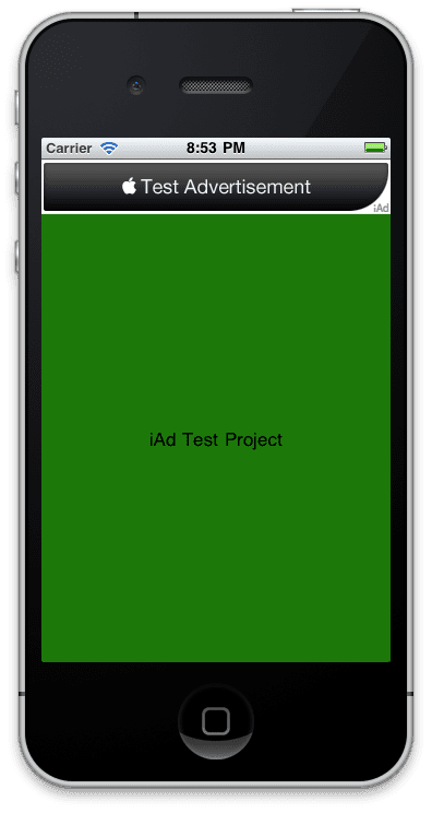 iAd Integration to iPhone app